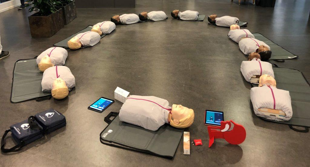 utrustning vid HLR-utbildning